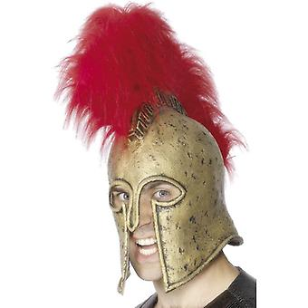 Roman Armour Helmet, Gold and Red, One Size