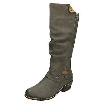 Las señoras Rieker alta Casual botas 93655