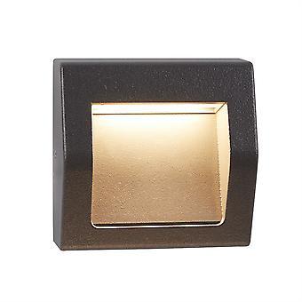 Caviglia piccolo grigio all'aperto LED da incasso a parete luce - Searchlight 0221GY