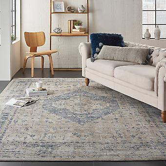Malta MAI11 Ivory Blue  Rectangle Rugs Traditional Rugs