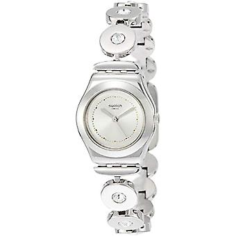 Swatch ladies Quartz analogue watch with stainless steel band YSS317G