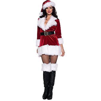 Lady Santa vuxen dräkt