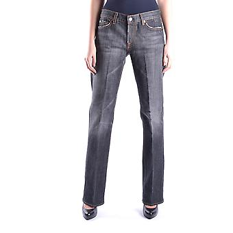 7 For All Mankind Ezbc110002 Dames's Grijze Katoen jeans