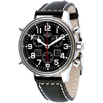 Zeno-watch mens watch of new classic pilot Chrono-alarm 9576Q-a1