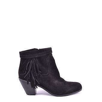 Sam Edelman Ezbc196001 Women's Black Leather Ankle Boots