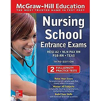 McGraw-Hill onderwijs verpleging school entree examens, derde editie