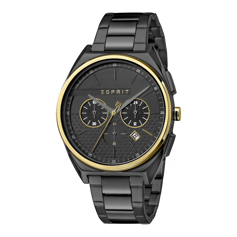 Esprit ES1G062M0085 Slice Chrono Gold Black Herrenuhr Chronograph