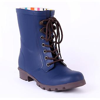 Evercreatures Ladies Beret Lace Up Festival Wellies in Various Sizes and Colors
