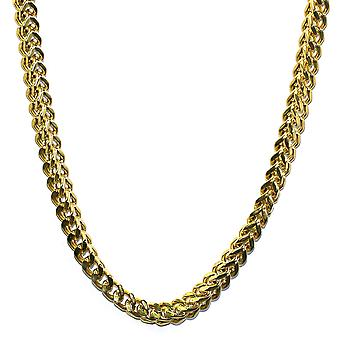 18K Gold Plated Franco Box Cuban Chain 8mm - Stainless Steel