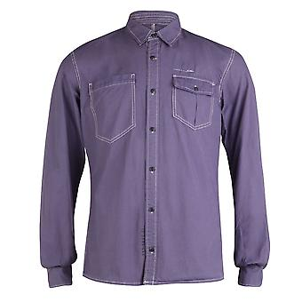 Firetrap långärmad Worker shirt, sten blå, medium