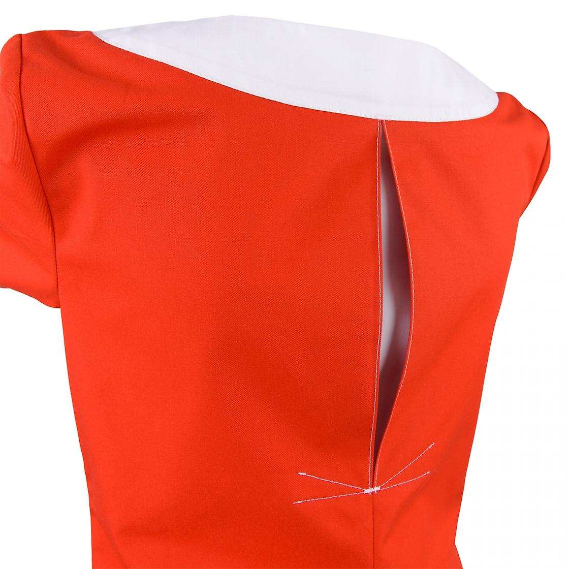 Anolo Kasack, ladies' bag, slip bag, nursing bag, red, hospital, pharmacy, red cross, 1/2 arm, 100% cotton (sanfor), German fabric, made in EU