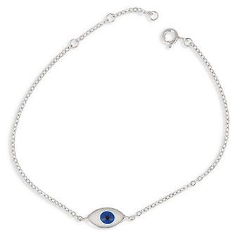 Bracelet Argent Rhodié Oeil 18cm