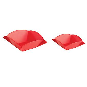 Mastrad Set of 2 Origami Cutting Boards / Serving Bowls, Red