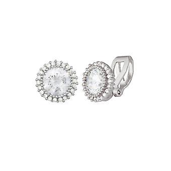 Ewige Sammlung Dazzle Zirkonia Silber Ton Stud-Clip auf Ohrringe