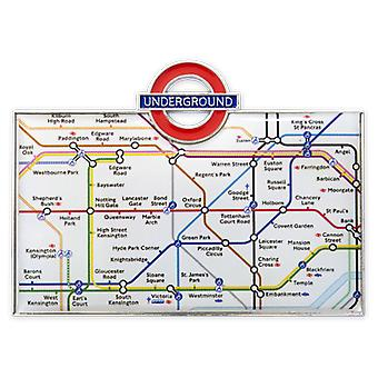 Tfl™3010 licensed underground™ tube map fridge magnet white