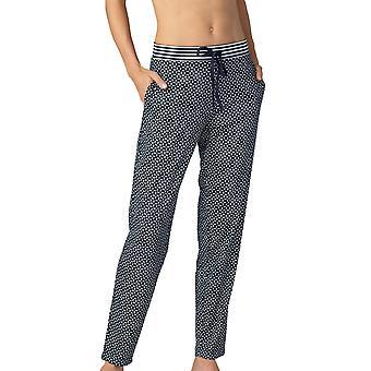 Mey Frauen 16961-408 Damen Nacht2Tag Isi Nacht blau geometrische Druck Baumwolle Pyjama Hose