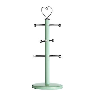 Premier Housewares Sweet Heart Mug Tree, Pastel Green