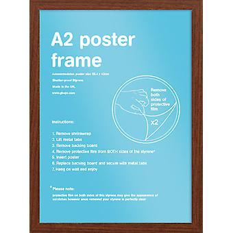 Eton Walnut Frame A2 Poster / Print Frame