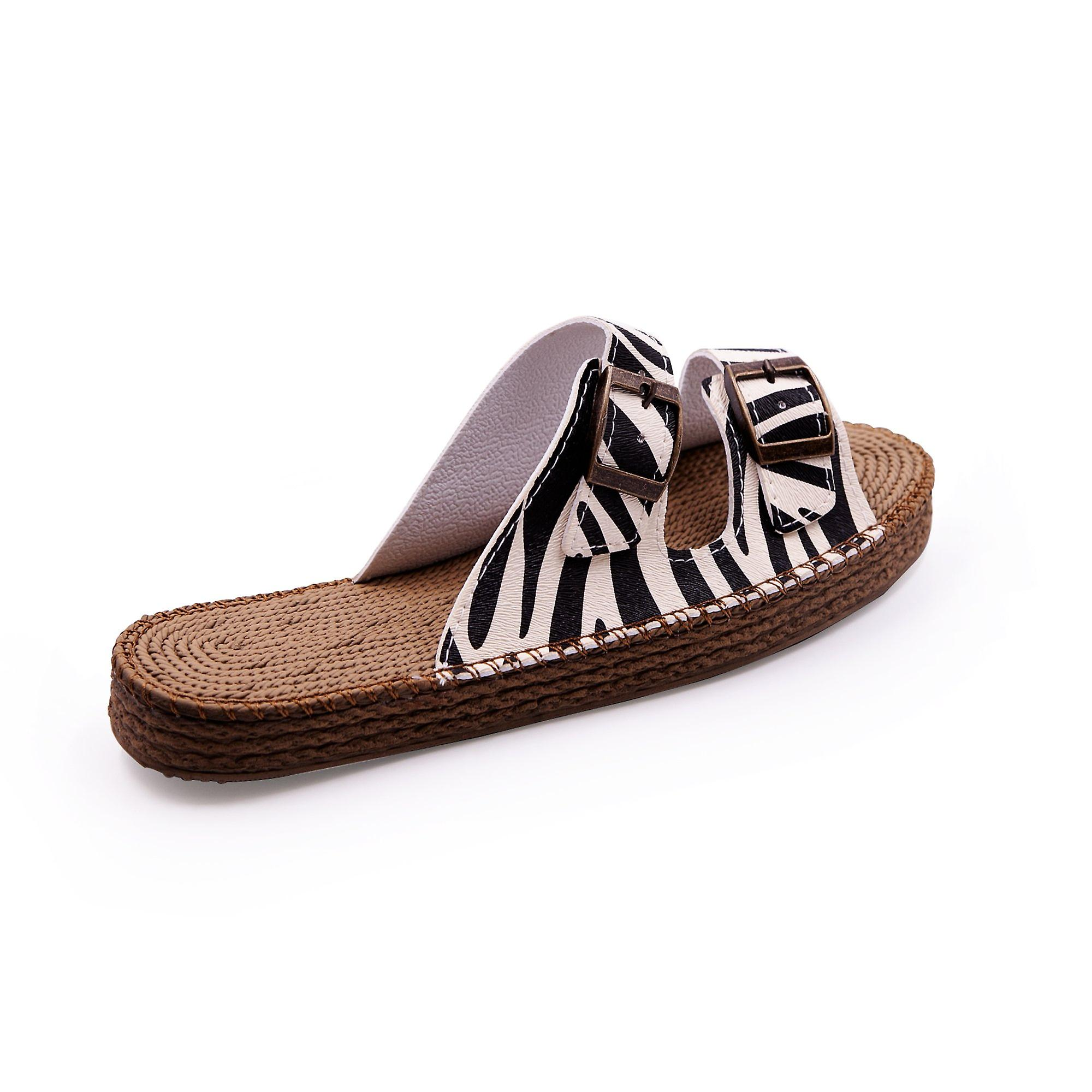 Sunday morning zebra sandals