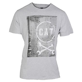 CAT Lifestyle Mens Media T-shirt Grijs