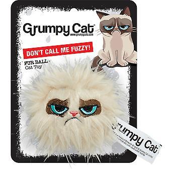 Rosewood Grumpy Cat Hair Ball Cat Toy