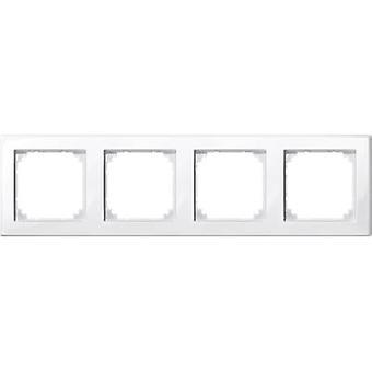 Merten 4x Frame M-Smart Polar white glossy 478419