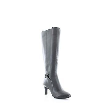 Alfani Womens Perrii Leather Almond Toe Knee High Fashion Boots