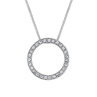 Elli Silver Pendant Necklace 925 with Swarovski Crystals - 45 cm 0111521714_45