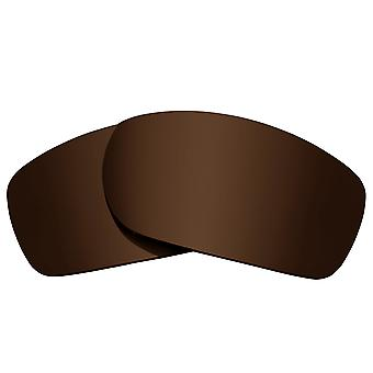 Polarized Replacement Lenses for Oakley Fives Squared Frame Brown Anti-Scratch Anti-Glare UV400 by SeekOptics