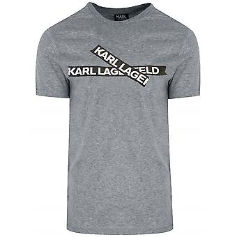 Lagerfeld Grey Cross Logo T-Shirt