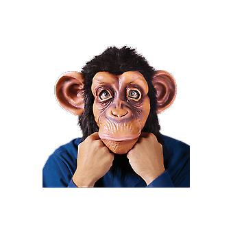 Adults Funny Chimp Monkey Face Mask Halloween Fancy Dress Costume Accessory