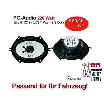 1 paire audio PG EVO II 1219 (5 x 7), enceintes acoustiques.