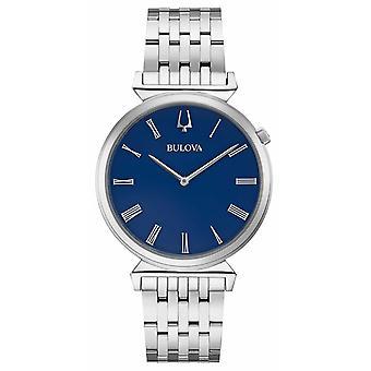 Bulova | Mens | Stainless Steel Bracelet | Blue Dial | 96A233 Watch