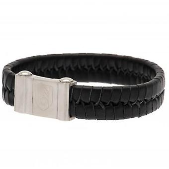 Fulham Single Plait Leather Bracelet