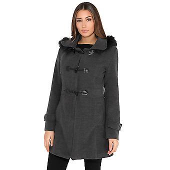KRISP capuche duffle-coat Rockabilly