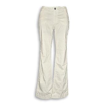 Peace Love World Women's Pants Railroad Stripe Boot Cut Beige A307402