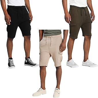 Brave Soul menns Auden casual regelmessig vanlig jogging fleece bunner svette shorts