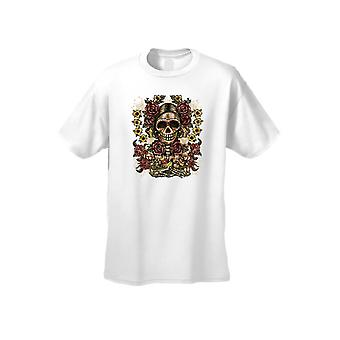 Men's Frida The Artist Sugar Skull Short Sleeve T-shirt