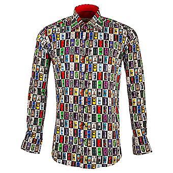 Claudio Lugli Super Car Print Mens Shirt