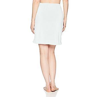 جونز نيويورك المرأة & ق سيلكي تاتش 19 مكافحة التشبث فوق الركبة نصف زلة, أبيض, S