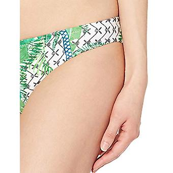 Nanette Lepore Women's Hipster Bikini Swimsuit, Green//Palm Patchwork, Size 2.0