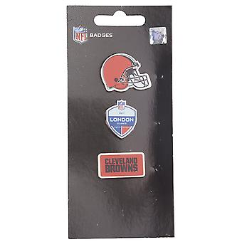 Cleveland Browns NFL Pin Badge Pin Set of 3 London