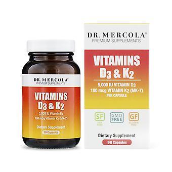 Vitamíny D3 a K2 90 Kapsle - Dr Mercola