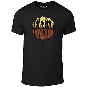 Homens ' s estranho espelho t-shirt