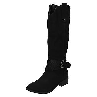 Le signore Coco gamba alta fibbia dettaglio stivali L9340