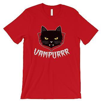 Vampurrr morsom Halloween kostyme søt grafisk design menns rød T-skjorte