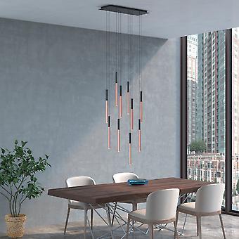 ALTAIR 10 Mini Pendant Lighting Black-Copper - LED Hanging Light Fixture