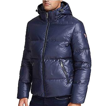 Guess Hooded Puffer Jacket  Blue  M94L42