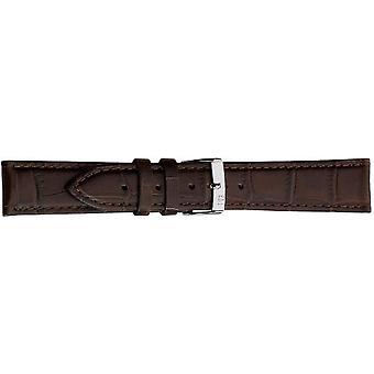 Morellato black leather strap unisex Brown BUBBLES 24 mm A01X2269480032CR24