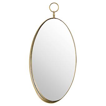 Hill Interiors Oval Mirror With Decorative Loop